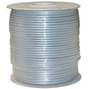 CableWholesale's Bulk Phone Cord, Silver Satin, 28/4 (28 AWG 4 Conductor), Spool, 300m