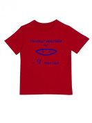 """""""Cunningly Desguised as a 4 Year Old"""" - Unisex Ninja Eyes Birthday T Shirt Gift"""