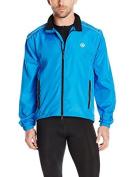 Canari Cyclewear Men's Razor Convertible Jacket, Breakaway Blue, Medium