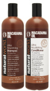 Natural World MACADAMIA Shampoo & Conditioner - 500ml each Infused with Macadamia Oil