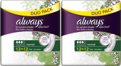 SIX PACKS of Always Discreet Normal Pads 24 Pads