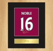 Mark Noble Signed Mounted Artistic Photo Display West Ham United