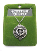 100% Pewter Scottish Thistle Clan Crest Pendant - Made in Scotland by Art Pewter