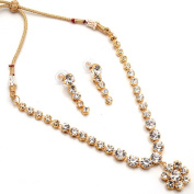 Zewar Mandi Women's Fashion AD Pearl AD Kundan Jadau Solitaire Nagmala Vintage Ethnic Real Necklaces White