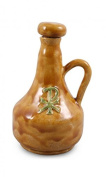 Brown holy water jug, Pax green pottery, 500 ml 17 x 11 cm