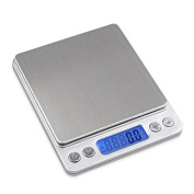 Boweike 3000g-0.1g Precision Weigh High Accuracy Electronic Digital Platform Kitchen Scale Weighing Balance with Two Trays