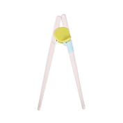 MMRM ABS Plastic Training Chopsticks Safe Easy for Childern Kids 2 Years Above - Green