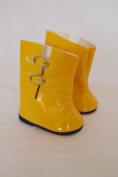 YELLOW RAIN BOOTS FOR AMERICAN GIRL DOLLS