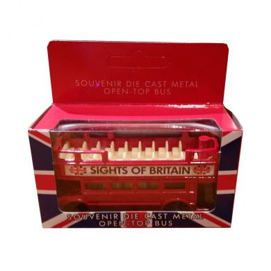 Collectible Diecast Metal London Bus! Die Cast Sightseeing Red Bus, Boxed Toy! Souvenir / Speicher / Memoria! Charming Model London Routemaster / Route Master Bus! Modèle de Voiture / Modellautos / Modello di Auto / Modelo de Coche!