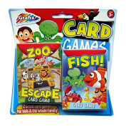 Children's Card Games - Pack of 2 - Zoo Escape & Fish