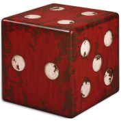 Uttermost 24168 Dice Accent Table, Red