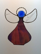 Artic Fox Handcrafted Angel Suncatcher Stained Glass Ornament