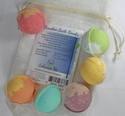 NEW Bath Bombs - w/FREE Lip Balm. Handmade with Shea Butter and Organic Sustainable Palm Oil - They Will Leave You Feeling Soft and Relaxed
