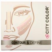1pc City Colour Contour & Define - Contour, Bronzer, Blush, Highlight #F0038