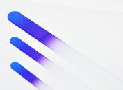 Genuine Czech, Etched, Crystal Glass, Classy Blue/purple ,Manicure/pedicure Files-set of 3