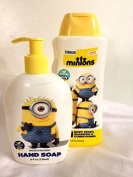 Minions Hand Soap & 3 in 1 Body Wash, Shampoo & Conditioner Bundle 2 Pack
