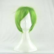 MEW MEW Power Akira Mizuki Green Short Cosplay Wig + Free Wig Cap