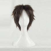 Gekkan Shojo Nozaki-kun Hori Masayuki Brown Short Cosplay Costume Wig + Free Wig Cap