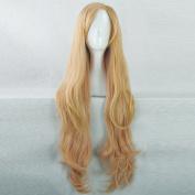 AKB0048 Itano Tomomi Golden Gradient Pink 100CM Long Curly Cosplay Wig + Free Wig Cap