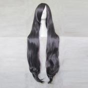 Shiki Sunako Kirishiki Black Grey 100CM Long Curly Cosplay Costume Wig + Free Wig Cap
