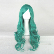 Hitman Reborn Daisy Green Curly 80CM Long Cosplay Costume Wig + Free Wig Cap
