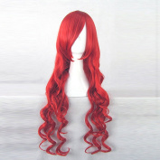 The Twelve Kingdoms Youko Nakajima Red 80CM Long Curly Cosplay Wig + Free Wig Cap