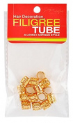 Magic Collection Braiding Metal Cuffs Hair Decoration Filigree Tube [Medium]