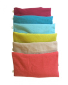 Peacegoods Unscented Organic Flax Seed Eye Pillow - Bundle of (6) - Soft Cotton 4 x 8.5ge