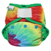 bestbottom Cloth Hook and Loop Nappy Shell, Totally Tie Dye
