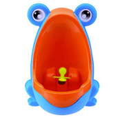 Frog Shaped Boys Urinal with Whirling Target