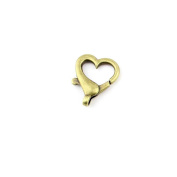 3pcs Jewellery Making Charms Jewellery Charme Antique Bronze Brass Tone Findings Lots Bulk Supply Supplies Repair Vintage Retro VI083 Heart Lobster Clasps