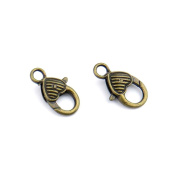 140pcs Jewellery Making Charms Jewellery Charme Antique Bronze Tone Fashion Finding for Necklace Bracelet Pendant Crafting Earrings KK095 Heart Lobster Clasps