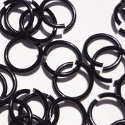 BLACK Anodized Aluminium Jump Rings 150 5/16 16g SAW CUT