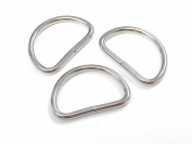 ljdeals Metal D Ring 1.9cm Non Welded Nickel Plated Pack Of 100