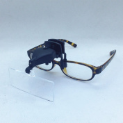 3 Lens Clip-on 1.5x 2.5x 3.5x 3d Reading Led Lights Magnifying Glass Eye Magnifier Watch Repair Oculos Helping Hands Soldering