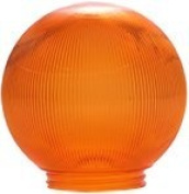 Polymer Products 3216-51630 Sphere 15cm . Prismatic Orange Acrylic Replacement Globe, Pack Of 6