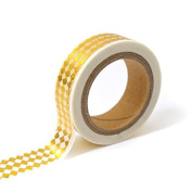 Masking tape - white with golden diamonds