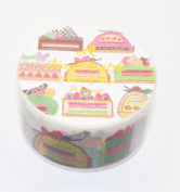 Aimez Le Style Primaute Collection Colourful Cutaway Cakes Masking Deco Tape Semi-wide.
