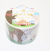 Aimez Le Style Primaute Collection New Design Animal Circus Washi Masking Deco Tape Wide.