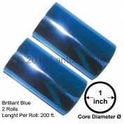 Hot Stamp Foil Stamping Tipper Kingsley 2 Rolls 7.6cm x 60m Brilliant Blue