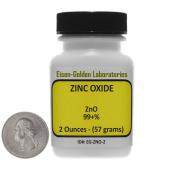 Zinc Oxide [ZnO] 99+% ACS Grade Powder 60ml in a Mini Space-Saver Bottle USA