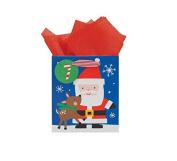 International Greetings Small Gift Bag, North Pole Toss