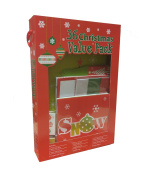 Christmas Gift Box Set - 36 Piece Kit Including Gift Boxes, Gift Tags, Tissue Paper