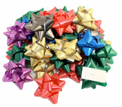 Pack of 36 Self Adhesive Gift Bows in Assorted Colours, Peel N Stick Gift Bows