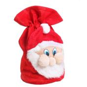 Binmer(TM)Christmas Santa Claus Face Gift Sacks Xmas Party Gift Bag Presents Toy Bag