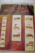 Vintage Avon Crewel Embroidery Kit Antique Cars Wall Hanging 40 X 6