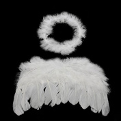 0-6 Month Angel Wings Baby Free Halo Full Fluff Turkey Feather Baby Cupid Props