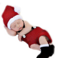 XMYM Newborn Handmade Christmas Crochet Knitted Unisex Baby Cap Outfit Photo Props