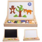 Sandistore Multifunctional Writing Board Drawing Magnetic Puzzle Double Easel Toys