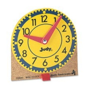 Learning Clocks Set,Mini,Moveable Hands,Wood Base,12/ST, Sold as 1 Set, 12 Each per Set